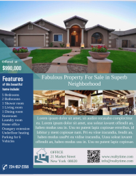 Customizable Design Templates For House For Sale PosterMyWall - House for sale flyer template