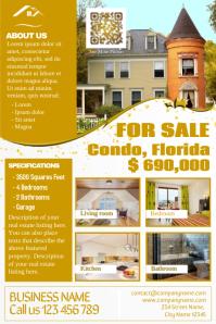Elegant real estate flyers - Golden style