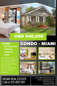 Real estate flyer for featured listing