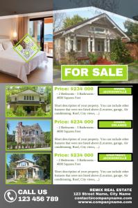 Grey real estate flyer - Transparent design