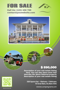 Stylish real estate flyer - Green version