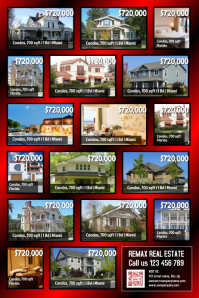 Real estate flyers - Home listing poster (Best for many listings)