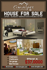Customizable Design Templates For House For Sale PosterMyWall - For sale by owner house flyer template