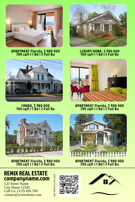 light colored real estate flyer  great for local print