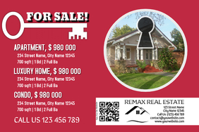 Simple real estate flyer with a QR code