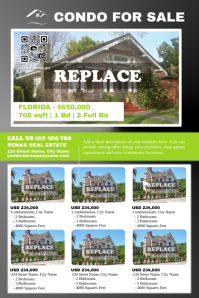 Real estate flyer with big and small images
