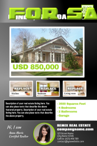 3D style real estate flyers