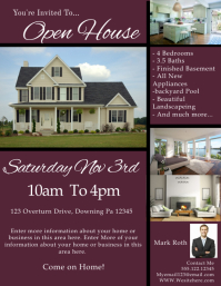 free open house flyer template free open house flyer template 24 - Free Open House Flyer Template