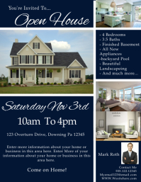 Elegant Similar Design Templates Intended Open House Flyer Template