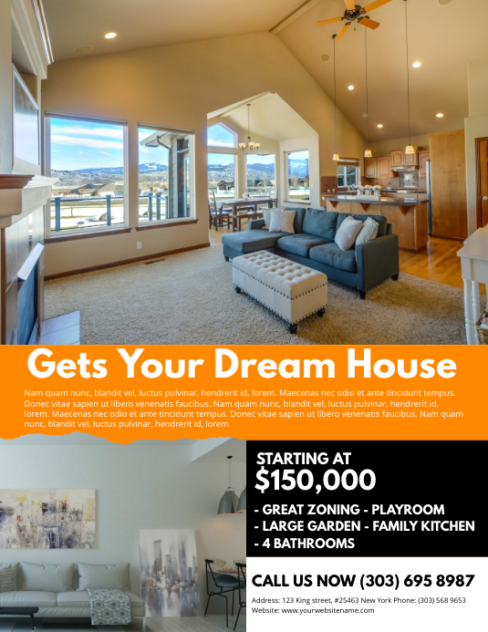 Real Estate Flyer Template Pamflet (Letter AS)