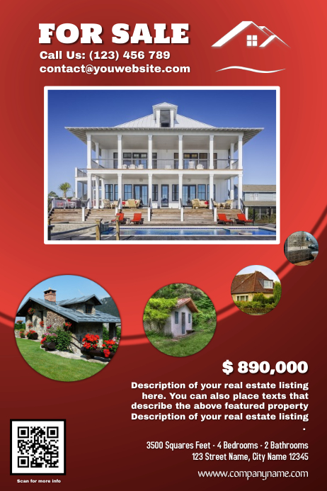 Real Estate Flyer (Featured Property Version) - Red