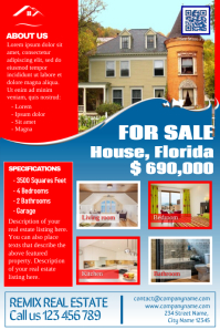 Franchise real estate flyers - Red White and Blue