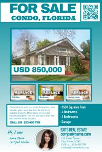 Franchise real estate flyers - Dark cyan