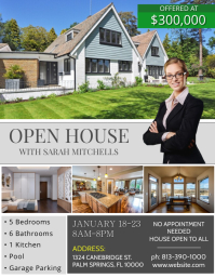 Real Estate  Open House Flyers