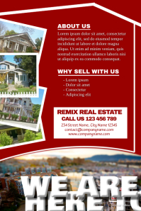 Single colored real estate flyer (Ready for any custom color)