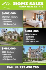 Real estate flyer - Big texts, big photos