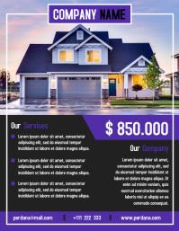 Real estate flyer template creative design