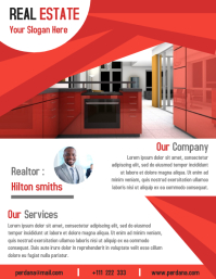 Real estate flyer template creative design