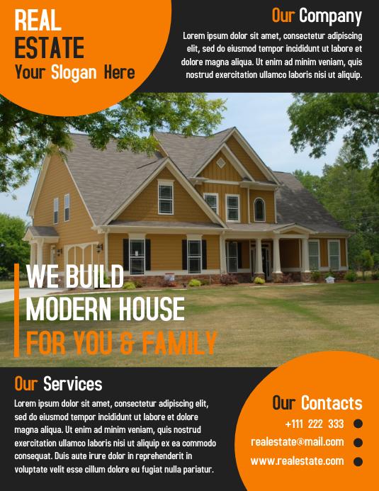 Open House Flyer Template Design