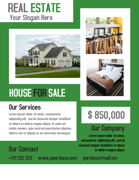 Real Estate Flyer Template Creative Design Postermywall