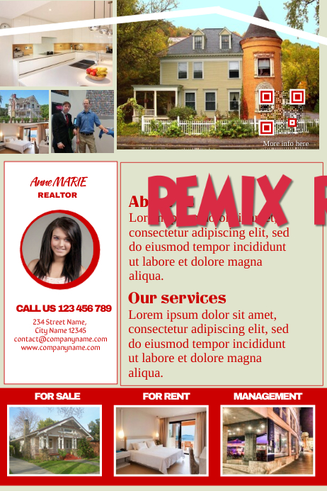 print friendly real estate flyer  professional template