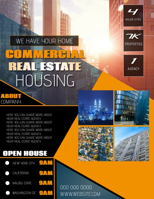 REAL ESTATE flyer TEMPLATE Pamflet (VSA Brief)
