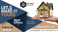 real estate flyer template Twitch Banner
