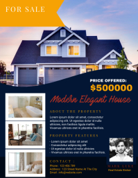Real Estate Flyer Template Design Рекламная листовка (US Letter)