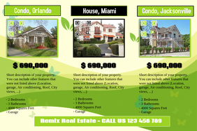 Real estate flyers idea - Custom background