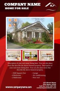 Modern real estate flyers