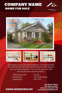 Modern real estate flyers