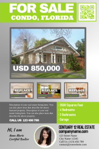 Fancy real estate flyer template