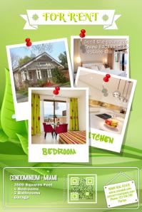 Green real estate flyer - Nature background