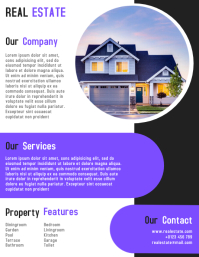 Real Estate Flyer Template Fully Editable Pamflet (VSA Brief)