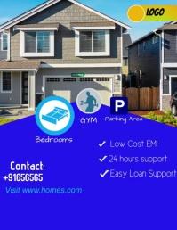 Real Estate Flyer Video 传单(美国信函) template