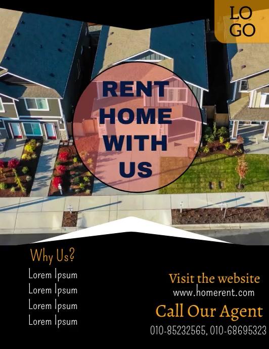 Real Estate Flyer Video Folder (US Letter) template