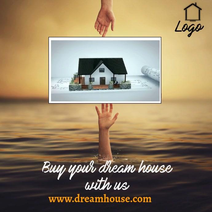 Real Estate Flyer Video for instagram template