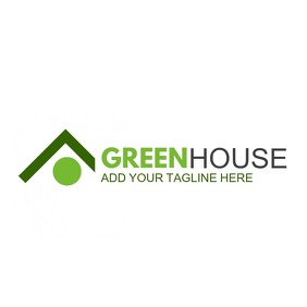 real estate green house icon logo โลโก้ template