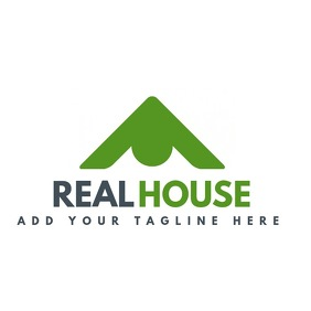 Real estate green house logo