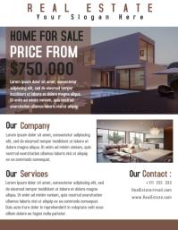 Real Estate Home Flyer Template Creative Desi