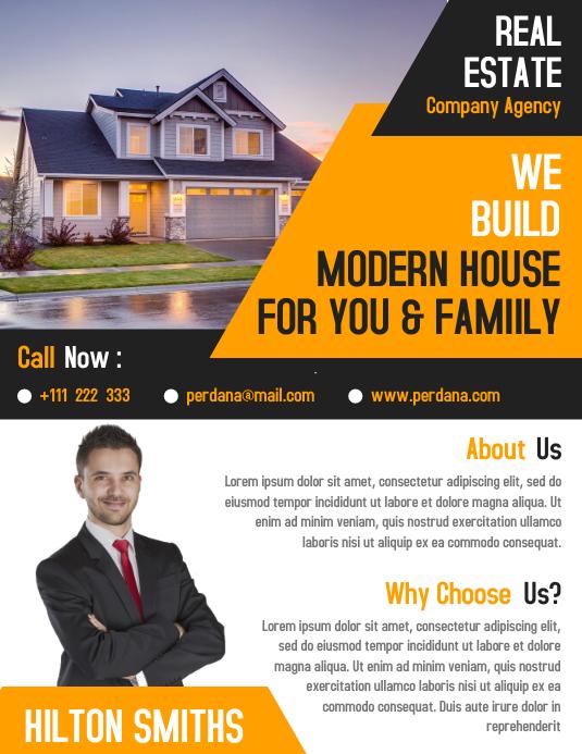 Real estate home flyer template creative design