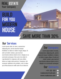 Real estate home flyer template creative design