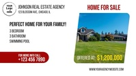 Real Estate Home for Sale Digital Display (16:9) template