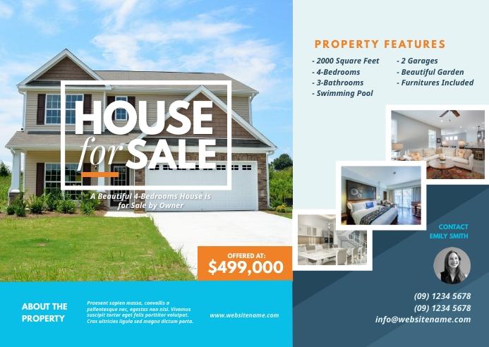 Real Estate Home Listing Postcard 明信片 template