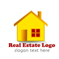 Real estate home sale logo design template โลโก้