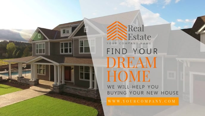 Real Estate Home Selling Facebook cover Video Template