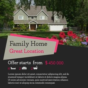 Real Estate Home Selling Instagram Video Template