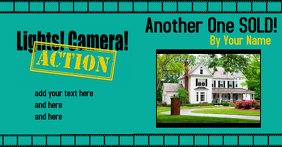 Real Estate Home Sold Light Camera Action