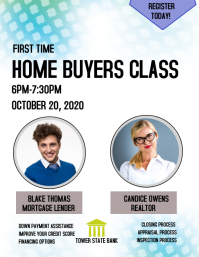 real estate homebuyers class 传单(美国信函) template