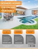Real estate house Рекламная листовка (US Letter) template